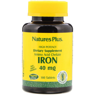 Nature's Plus, Iron, 40 mg, 180 Tablets