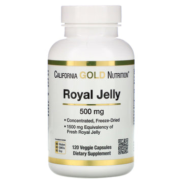 California Gold Nutrition, Royal Jelly, Concentrated & Freeze Dried, 500 mg, 120 Veggie Caps