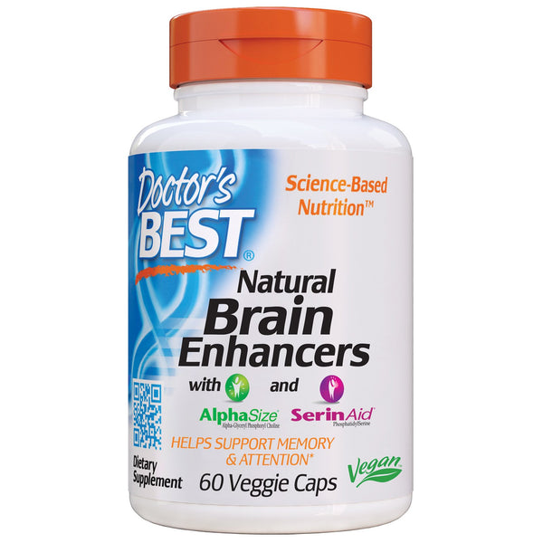 Doctor's Best, Natural Brain Enhancers wtih AlphaSize and SerinAid, 60 Veggie Caps