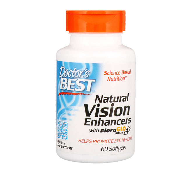 Doctor's Best, Natural Vision Enhancers with FloraGlo Lutein, 60 Softgels
