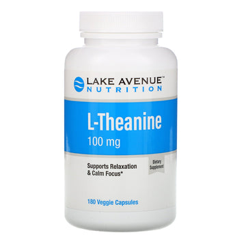 Lake Avenue Nutrition, L-Theanine, 100 mg, 180 Veggie Capsules