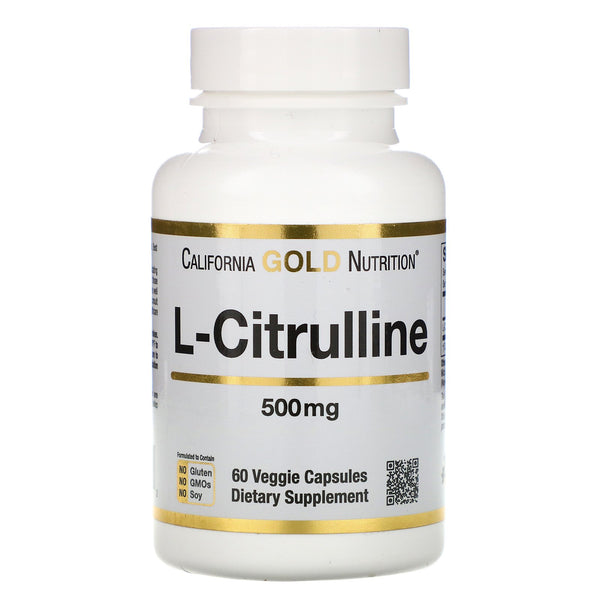 California Gold Nutrition, L-Citrulline, 500 mg, 60 Veggie Capsules - The Supplement Shop