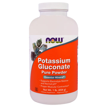 Now Foods, Potassium Gluconate Pure Powder, 1 lb (454 g)