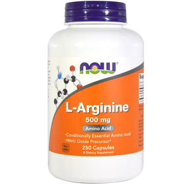 Now Foods, L-Arginine, 500 mg, 250 Capsules