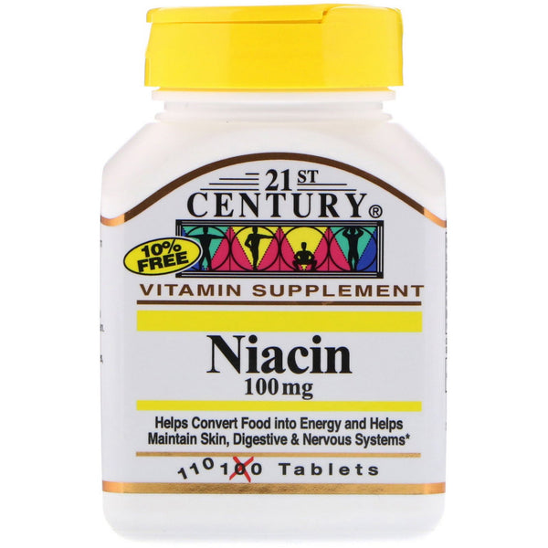 21st Century, Niacin, 100 mg, 110 Tablets