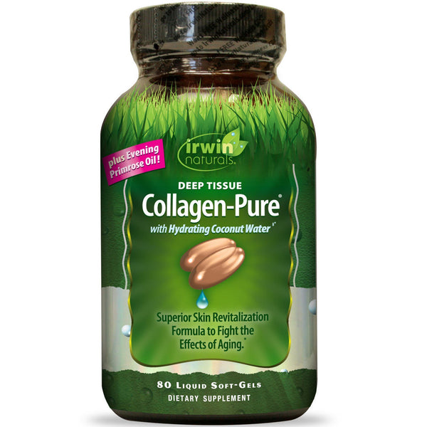 Irwin Naturals, Collagen-Pure, Deep Tissue, 80 Liquid Soft-Gels