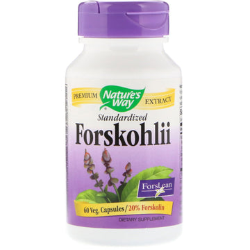 Nature's Way, Forskohlii, Standardized, 60 Veg. Capsules