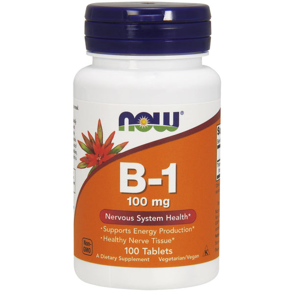 Now Foods, B-1, 100 mg, 100 Tablets - The Supplement Shop