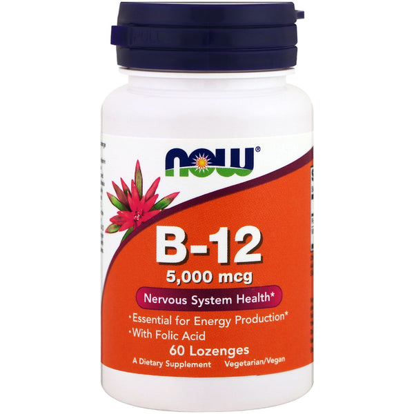 Now Foods, B-12, 5,000 mcg, 60 Lozenges