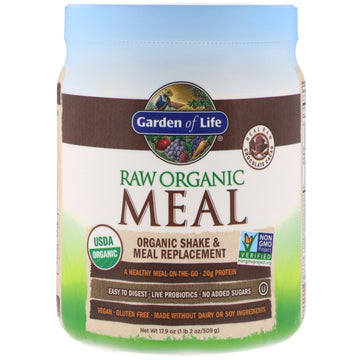 Garden of Life, RAW Organic Meal, Shake & Meal Replacement, Chocolate Cacao, 17.9 oz (509 g)