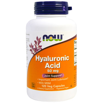 Now Foods, Hyaluronic Acid with MSM, 120 Veg Capsules