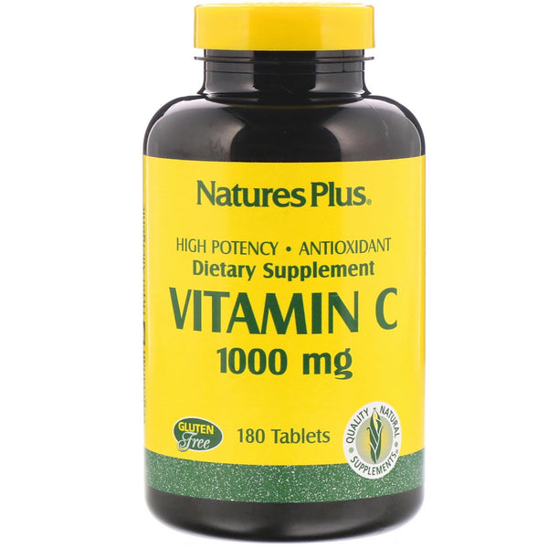 Nature's Plus, Vitamin C, 1000 mg, 180 Tablets