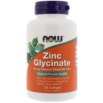 Now Foods, Zinc Glycinate, 120 Softgels
