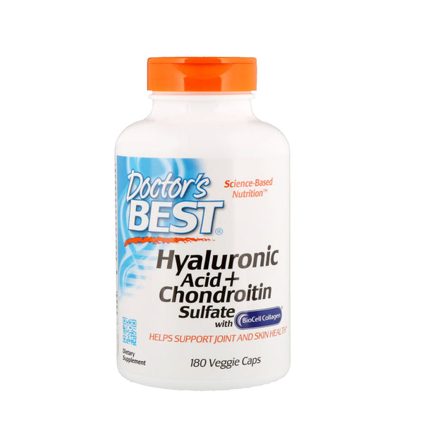 Doctor's Best, Hyaluronic Acid + Chondroitin Sulfate, 180 Veggie Caps