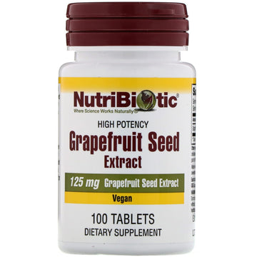 NutriBiotic, Grapefruit Seed Extract, 125 mg, 100 Tablets