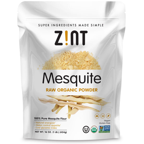 Zint, Mesquite Raw Organic Powder, 16 oz (454 g) - The Supplement Shop
