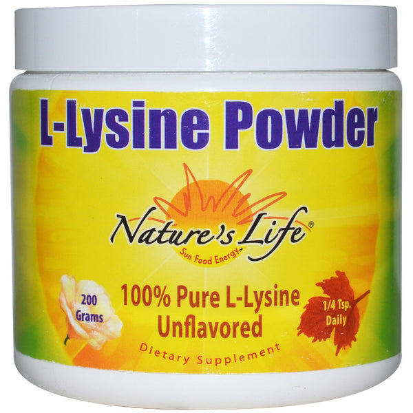 Nature's Life, L-Lysine Powder, Unflavored, 200 g