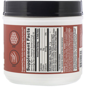 Dr. Axe / Ancient Nutrition, Multi Collagen Protein, Joint + Tissue, Natural Vanilla, 8 oz (226 g)
