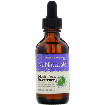 NuNaturals, Monk Fruit Sweetener, 2 oz (59 ml)