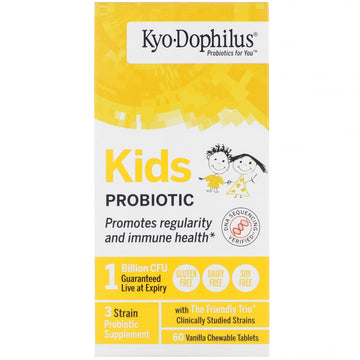 Kyolic, Kids Probiotic, Vanilla, 60 Chewable Tablets
