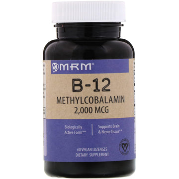 MRM, B-12, Methylcobalamin, 2,000 mcg, 60 Vegan Lozenges