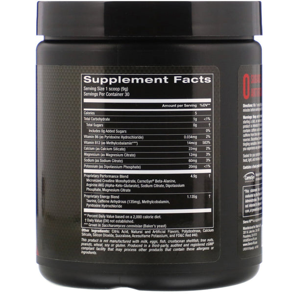 Sierra Fit, Pre-Workout Powder, Fruit Punch, 9.5 oz (270 g)