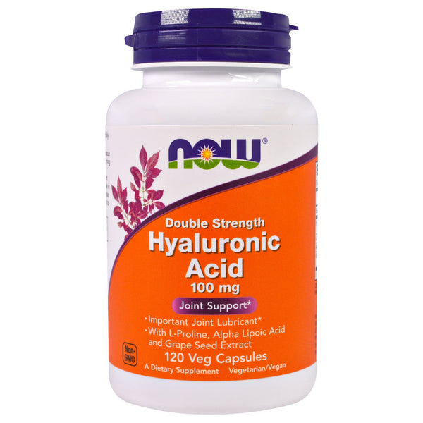 Now Foods, Hyaluronic Acid, Double Strength, 100 mg, 120 Veg Capsules