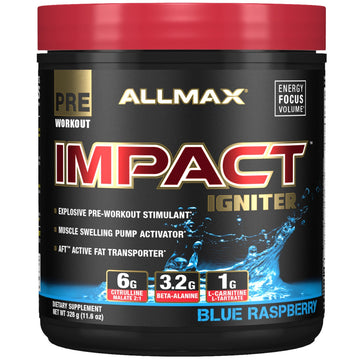 ALLMAX Nutrition, IMPACT Igniter, Pre-Workout, Blue Raspberry, 11.6 oz (328 g)