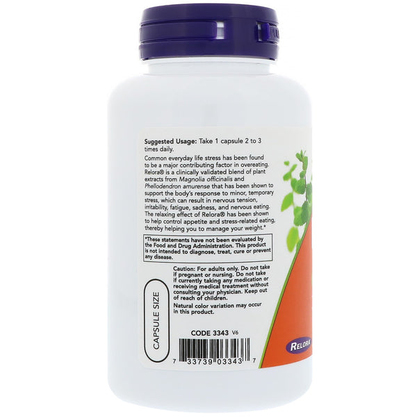 Now Foods, Relora, 300 mg, 120 Veg Capsules