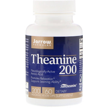 Jarrow Formulas, Theanine 200, 200 mg, 60 Veggie Caps