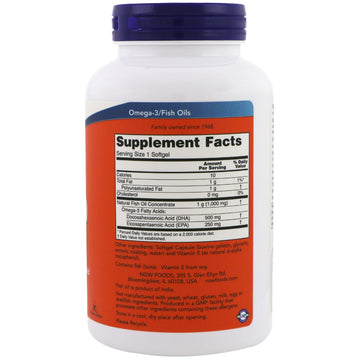 Now Foods, DHA-500/EPA-250, Double Strength, 180 Softgels