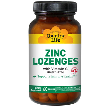 Country Life, Zinc Lozenges with Vitamin C, Cherry, 60 Lozenges