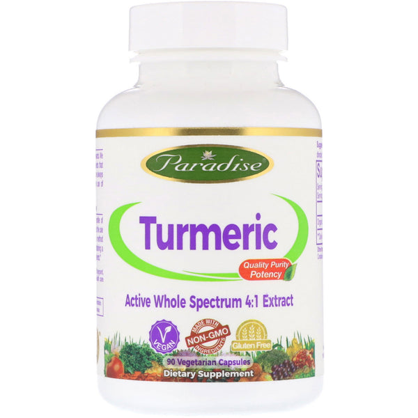 Paradise Herbs, Turmeric, 90 Vegetarian Capsules - The Supplement Shop