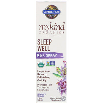 Garden of Life, MyKind Organics, Sleep Well, R&R Spray, 2 fl oz (58 ml)