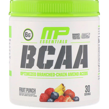 MusclePharm, Essentials, BCAA, Fruit Punch, 0.57 lbs (258 g)
