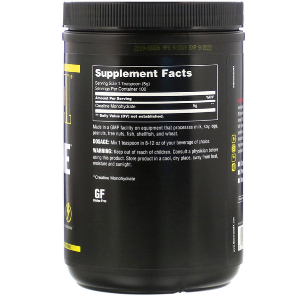 Universal Nutrition, Creatine, Unflavored, 500 g, 1.1 lb (500 g)