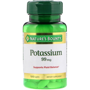 Nature's Bounty, Potassium, 99 mg, 100 Caplets