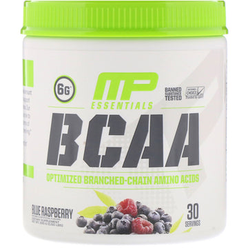 MusclePharm, Essentials, BCAA, Blue Raspberry, 0.50 lbs (225 g)