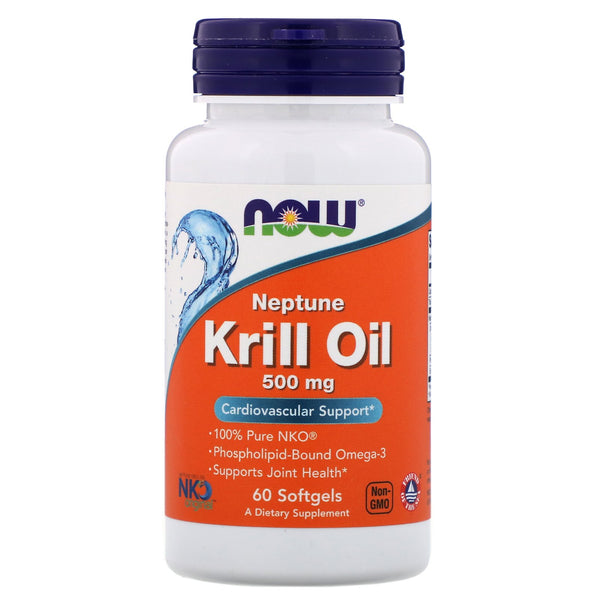Now Foods, Neptune Krill Oil, 500 mg, 60 Softgels - The Supplement Shop