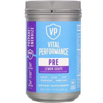 Vital Proteins, Vital Performance, Pre, Lemon Grape,  13 oz (369 g)