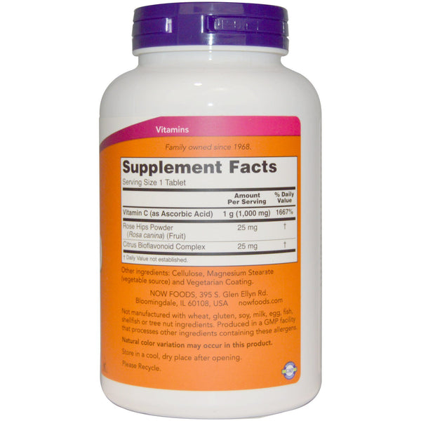 Now Foods, C-1000, With Rose Hips and Bioflavonoids, 250 Tablets - The Supplement Shop