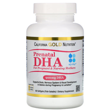 California Gold Nutrition, Prenatal DHA for Pregnant & Nursing Mothers, 900 mg Per Serving, 60 Softgels