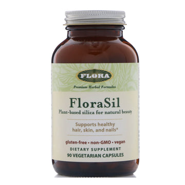 Flora, FloraSil, Plant Based Silica for Natural Beauty, 90 Vegetarian Capsules