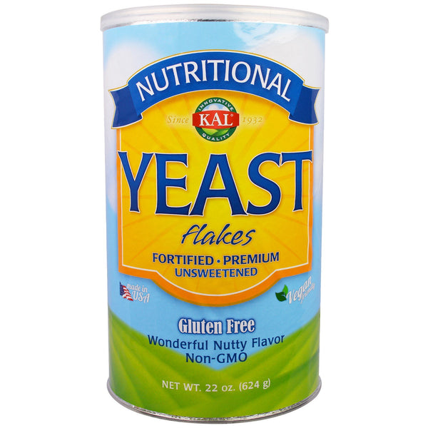 KAL, Nutritional Yeast Flakes, Unsweetened, 22 oz (624 g)