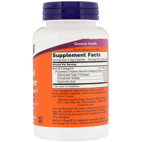 Now Foods, BioCell Collagen, Hydrolyzed Type II, 120 Veg Capsules