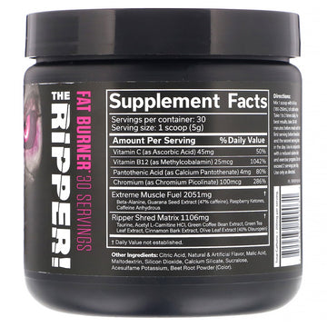 JNX Sports, The Ripper, Fat Burner, Pixie Sticks, 5.3 oz (150 g)
