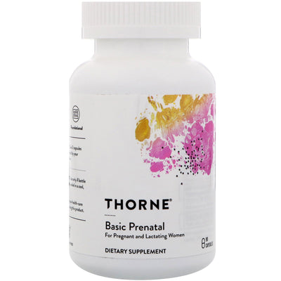 Thorne Research, Basic Prenatal, 90 Capsules