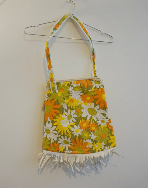 Fringed 60s flower power shoulder bag
