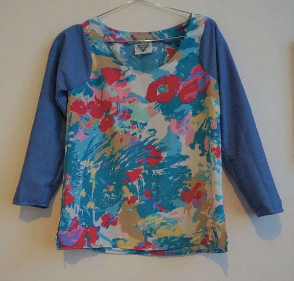80s Floral Sleeved Shirt