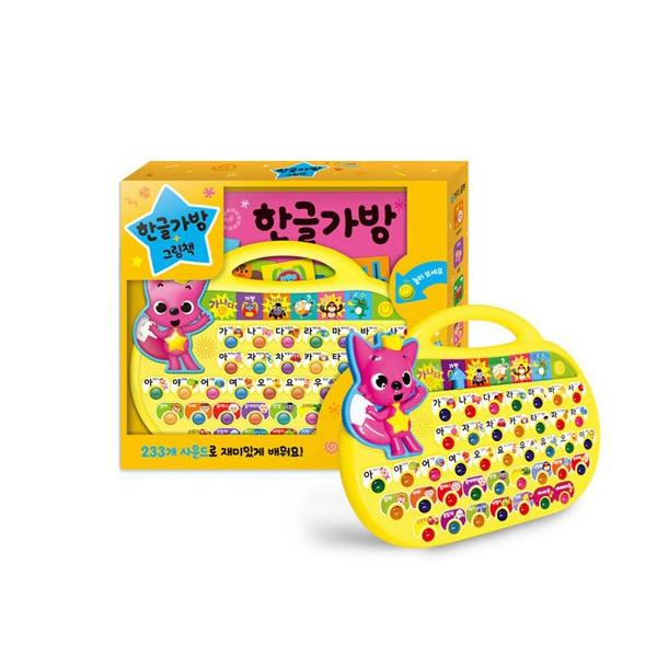 핑크퐁 사운드북 한글가방/스마트폰/스마트워치/동요패드 Pinkfong Korean Character Soundbook Bag / Smartphone / Smart Watch / Children's Song Pad